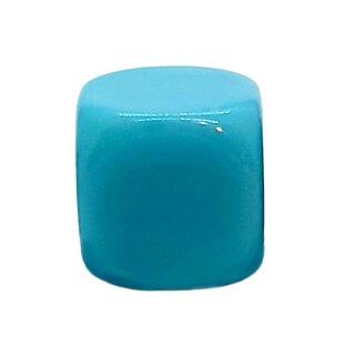 Blanko-Würfel Hellblau mit runden Ecken W6