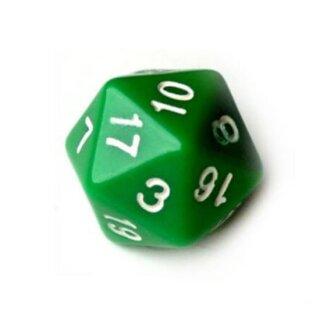 20-Seitige Würfel Grün mit Zahlen 1-20 W20