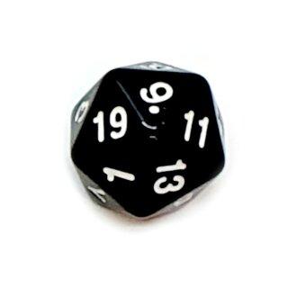 20-Seitige Würfel Schwarze mit Zahlen 1-20 W20