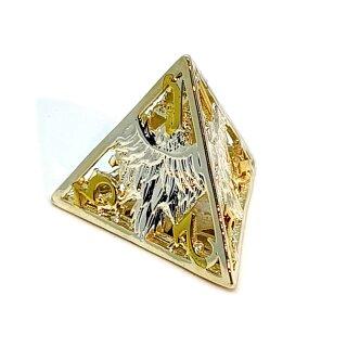4 Seitiger Metall-Würfel Hohl Adler Silber-Goldfarben