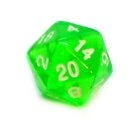 5 Transparent-Grün Würfel 20-Seiten W20 im Set