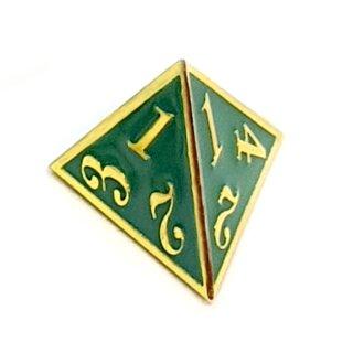 4 Seitiger Metall-Würfel Gold-Grün Zahlen