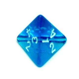 4 Seitige Blau-Transparente Würfel Zahlen W4