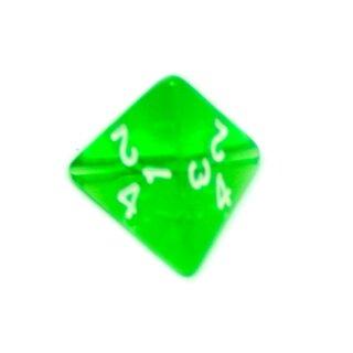 4-Seitige Grün-Transparente Würfel Zahlen W4