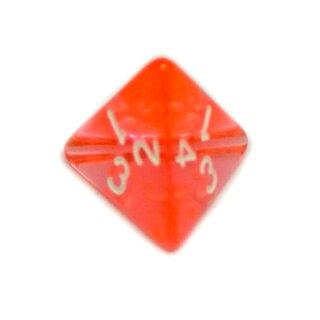 4-Seitige Orange-Pink-Transparente Würfel Zahlen W4
