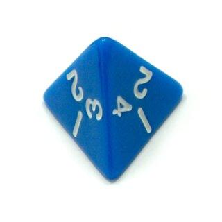 4-Seitige Blaue Würfel weiße Zahlen W4 Spielewürfel