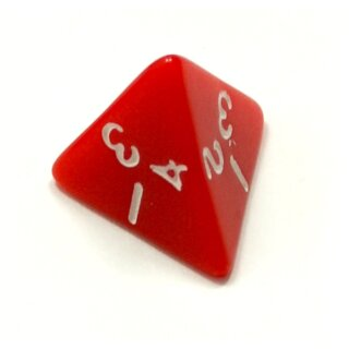 4-Seitige Würfel Rot weiße Zahlen W4