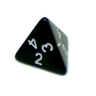 4-Seitige Schwarze Würfel weiße Zahlen W4