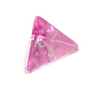 4-Seitige Rosa-Transparente Würfel Zahlen W4