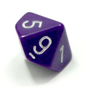 10 seitige Würfel Lila mit Zahlen 0-9