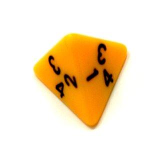 4-Seitige Gelb Würfel schwarze Zahlen W4