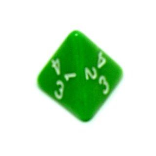 4-Seitige Perlmutt-Grün Würfel 18mm Zahlen