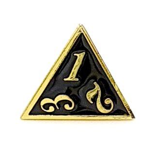 4 Seitiger Metall-Würfel Gold-Schwarz Zahlen