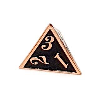 4 Seitiger Metall-Würfel Kupfer-Schwarz Zahlen