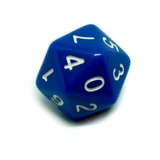 Sonderwürfel 20-Seitig Blau mit zwei mal Zahlen 0-9